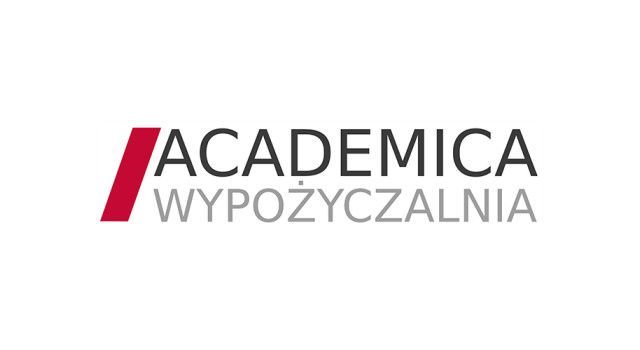 Obraz przedstawia logo wypożyczalni academica