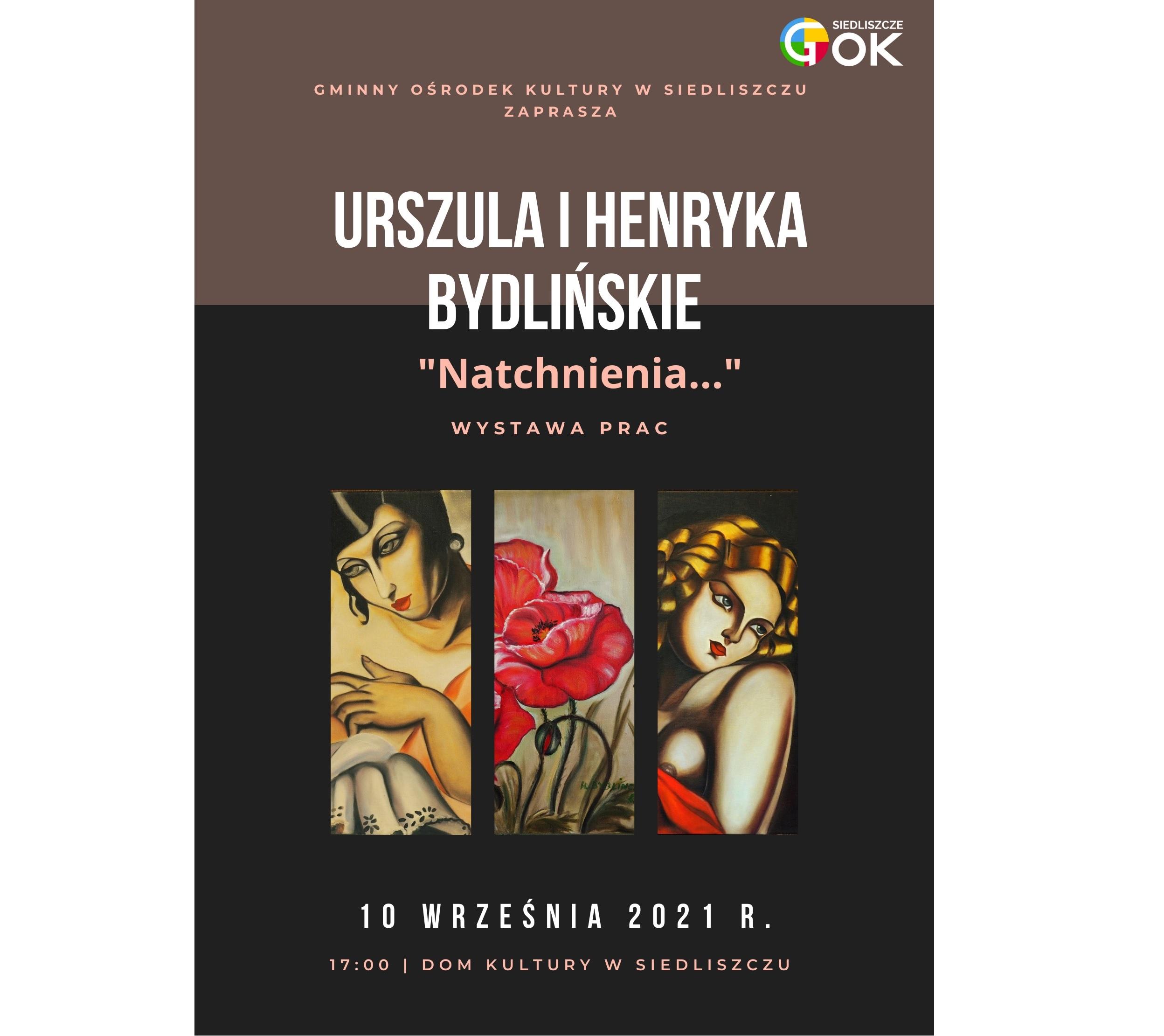 """""""Natchnienia…"""" Urszula i Henryka Bydlińskie- wystawa prac"""